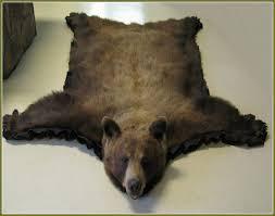 faux bear skin rug with head bear rug
