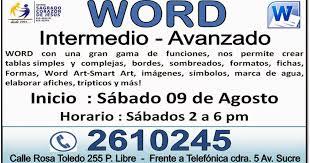 Formato De Afiches En Word Cetpro Sagrado Corazon De Jesus Word Intermedio Avanzado