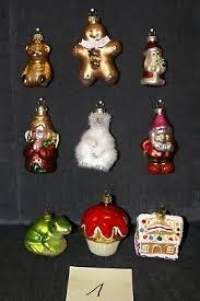9 Glas Figuren Christbaumschmuck Nikolaus Eisbär Muffin