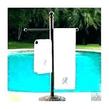 towel rack outdoors pool towel rack wood pool towel rack outdoor stand holders cast aluminum towels
