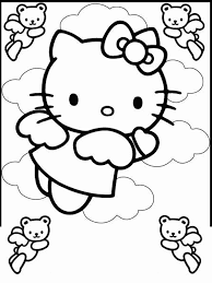 Free Hello Kitty Coloring Pages Printable For Kids