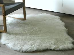 fake sheepskin rug small