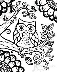 Owl Coloring Pages Printable Owl Coloring Page Free Adult Coloring
