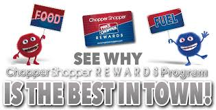 earn chopper shopper rewards save on groceries or gas price