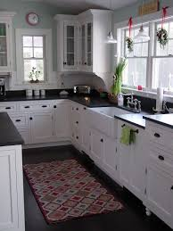 White Kitchen Cabinets With Black Countertops Adorable Portland Maine Traditional Kitchen Design Pictures Remodel Decor