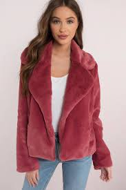 fur coats mauve bonfire heart faux fur jacket