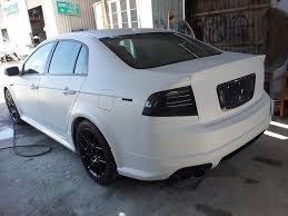 Think Flat/Matte white Acura TL Type S. Now imagine it ...