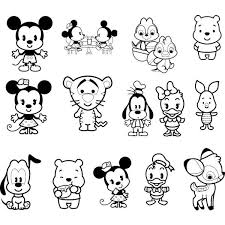 Sing, dance and color wonderful coloring pages baby shark, pinkfong and other popular characters from music videos on youtube channel. Pin By Augusta Brant On Kawaii Disney Cuties Cute Coloring Pages Baby Disney Characters