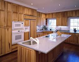hickory cabinets with quartz countertops