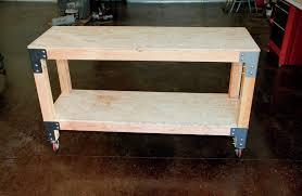 homemade metal workbench. finished easwood workbench1 homemade metal workbench