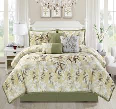 luxury embroidery bamboo forest bedding comforter set bedding collections