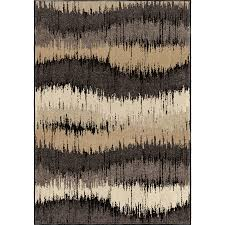 orian rugs electric waves brown indoor novelty area rug common 8 x 11