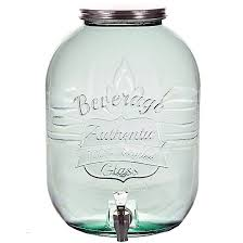 large authentic recycled glass jar w spigot