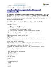 Kali ini saya akan memberikan sedikit informasi tentang olimpiade sains plus 2020 yg dilaksanakan di gedung auditorium usu yg telah berlangsung hari ini tanggal 15 februari khusus olimpiade siswa dan besok tanggal 16 februari 2020. Soal Bahasa Inggris Kelas 8 Semester 2 Kurikulum 2013 Grammar Language Mechanics