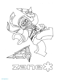Lego Ninjago Coloring Pages Zane At Getdrawingscom Free For