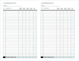 Mileage Tracker Sheet Mileage Record Template Energycorridor Co