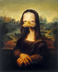 best mona lisa images mona lisa street art and  duckerized mona