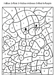 Color By Number Coloring Pages To Print Color By Number For Adults
