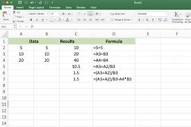 screenshot of excel showing addition formulas