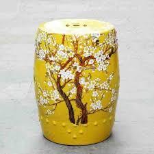 chinese garden stool. China Plum Blossom Painting Ceramic Drum Porcelain Garden Stool Glazed Chinese Stools O