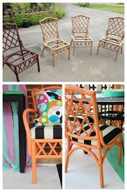 bamboo rattan chair makeovers rattan chair makeover