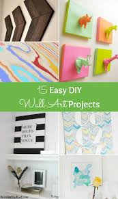 get rid of those bare walls try one of these easy diy wall art projects