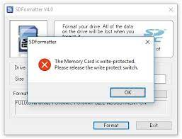 write protected micro sd card cannot