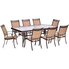 Aluminum Outdoor Dining Table Stone Patio Dining Furniture Patio Furniture