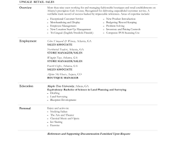 Resume For Sales Associate Job Description For Retail Sales Associate Resume Home Design 65
