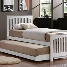 Solid Wood Modern Bedroom Furniture Magnificent Adult Trundle Beds Solid Wood Bedframe White Finish