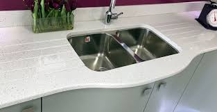 undermount sink with double drainer grooves