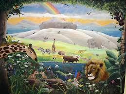 noah s ark mural painting 2010 noah s ark mural art painting