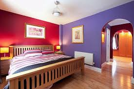 modern purple and red wall paint ideas