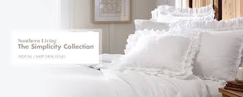 creative shot of southern living simplicity bedding collection