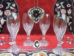 vintage set of 4 four baccarat crystal massena 5 1 2 champagne flute glasses a 441342665
