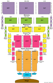 Civic Center Seating Chart Okc Elcho Table