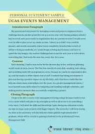 Ucas Events Management Personal Statement Sample Event