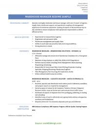 Warehouse Manager Resume Summary Briliant Warehouse Manager Skills Required Warehouse Manager Resume 24