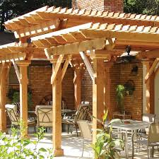 ... A stunning design, this three-tiered pergola truly makes a statement.  Pressure-