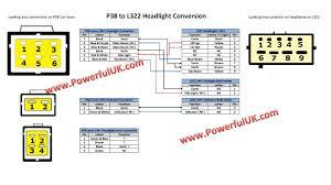 range rover p38 to l322 headlight conversion loom connector head thumbnail 5 thumbnail 6