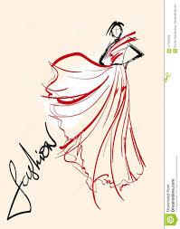 иллюстрация способа модель способа стильная эскиз девушки моды