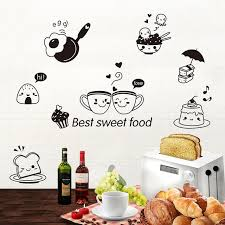 cartoon bread wallpaper. Contemporary Wallpaper Cartoon Best Sweet Food Wall Art Mural Decor Kitchen Tile Cabinet  Refrigerator Decal Poster Graphics Coffee To Bread Wallpaper C
