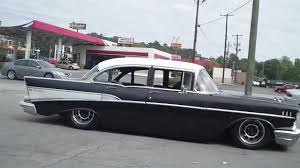 BAGGED 57 CHEVY RATROD - YouTube