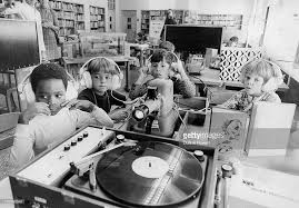 October 12, 1972: Watching a film strip about 'Snow White and the Seven  Dwarfs' which is narrated on a record (Photo By Duane Howell/The Denver  Post via Getty Images) : 1970s