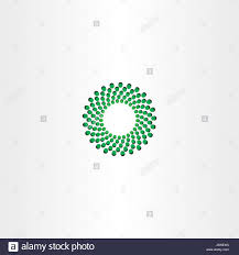 Fusion Logo Design Green Circle Particle Fusion Icon Logo Design Stock Vector