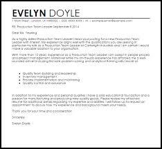 Sample Resume For Team Lead Position Cover Letter Leadership Position Production Team Leader Cover Letter