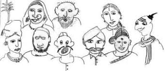 Image result for Indian people caricature