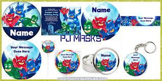 Pj Mask Party Decorations PJ Masks Party Supplies Kids Party Supplies 55