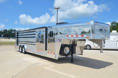 8191 livestock truck box featherlite stock trailers sheep 4 Flat Trailer Wiring Diagram 4 star 28' show cattle trailer custom ordered with polished slats, stainless steel nose, ramp & cs door, werm flooring, tie rails inside & out,