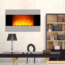 wall mount electric fireplace space heater remote wus sterling